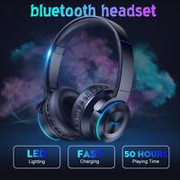 Wireless bluetooth Headphones Touch Control Stereo Earphones Super Bass Headset