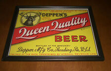 Deppen'S Queen Quality Beer Framed Color Ad Print - Deppen Brewing Co. - Reading