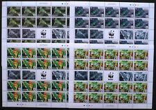 20 x  Tonga 2016 Mi. 2098-2101 ** MNH WWF Leguan Iguana. Kompletter Bogen 200, €
