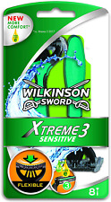Wilkinson Sword Xtreme 3 Sensitive Mens Disposable Razors x8