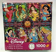 1000 Piece Puzzle Disney Princess Collage Stained Glass Princesses Free Poster