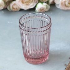 Vintage Antique Style Glass Bathroom Tumbler - Rose Pink