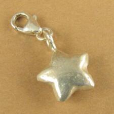 Clip en encanto Estrella. 3 dimensional. langosta broche. Plata Esterlina 925.