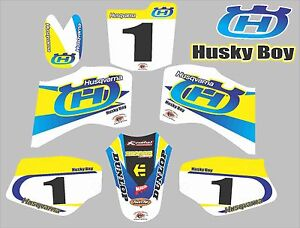 HUSKY BOY 50 Graphics Decals BOYS SENIOR 50 laminated stickers  NAME & NUMBER
