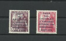 España 1951 edifil 1088/89  Caudillo Canarias nuevos sin señal de fijasellos