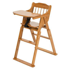 Safety Baby High Chair Bamboo Stool Infant Feeding Children Toddler Restaurant A