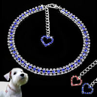Rhinestone Cat Dog Necklace Collar Puppy Crystal Jewelry Accessory for Chihuahua