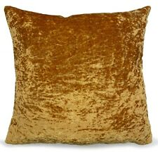 """Set of 4 Cushions Covers With cushions Crushed Velvet 17""""X 17""""  Gold"""