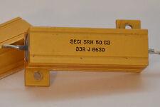 2x SECI Hochleistungs-Widerstand 33 Ohm, 50 Watt, Serie SRH 50