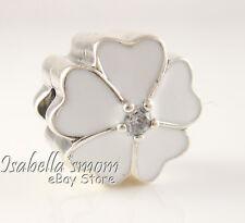 Retired WHITE PRIMROSE Authentic PANDORA Enamel FLOWER Clip 791822EN12 NEW w BOX