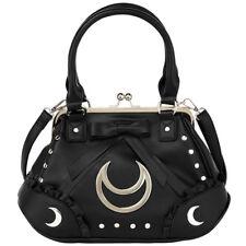 Killstar Vintage Gothic Goth Okkult Handtasche - Diana Mond Nieten Veganes Leder