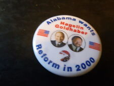 Alabama Reform Party Pin Back Presidential Campaign 2000 Button Hagelin Flag