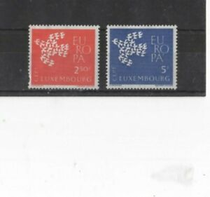 LUXEMBOURG , 1961 ' EUROPA ' SG697/8 TYPE 133 MH SET