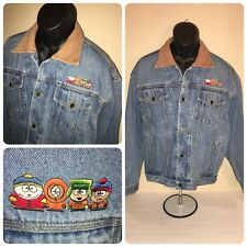 Woodlake Mens M Medium South Park 90s Blue Coat Jean Jacket Hip Hop Rap ~RARE~