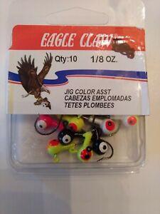 Eagle Claw 1/8 Oz. Jig Hooks Assorted Colors JB18ASST 10 hooks