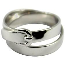 Hermes White Gold Buckle Ring
