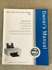 DELL PHOTO ALL IN ONE PRINTER 924 OWNER'S MANUAL ***EXCELLENT CONDITION***