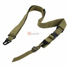 Tactical Military Adjustable Rifles Firearms 3 Three point Sling Nylon Strap OD