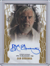 "2017 TOPPS STAR WARS MASTERWORKS Jan Dodonna ""On-Card  Gold Auto #13/25"