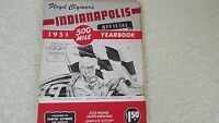 1951 Indianapolis Indy 500 race history yearbook by Clymer Lee Wallard wins Offy