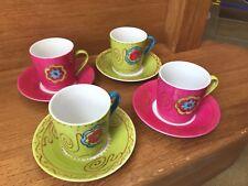 Magnifique Set Tasses Et Soucoupes Excellent État Orignal