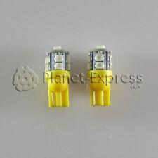 2 x Bombillas 10 LED SMD Amarillo T10 W5W Coche, Posicion, lectura, matricula...