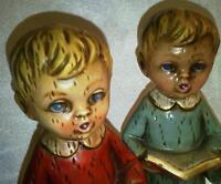 Vtg Choir Boy Figurines Mid Century Christmas Carolers Japan 7 inch