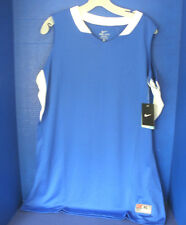 NIKE TEAM~Royal Blue & White DRI-FIT Sleeveless JERSEY / SHIRT~Womens XL~NWT