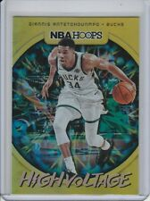 GIANNIS ANTETOKOUNMPO 2019-20 HOOPS HIGH VOLTAGE SP HOLOFOIL INSERT #11