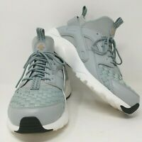 NEW! Nike Air Huarache Run Ultra SE - Women's Size 11.5, Grey-Green Weave