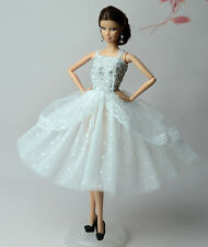Lovely Fashion White Dress/Clothes/Ballet Dress For Barbie Doll S534U