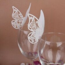 10 PCS New Table Mark Wine Glass Cards Favor Butterfly Name Place Party Wedding