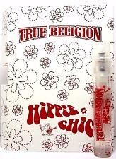 TRUE RELIGION HIPPIE CHIC EAU DE PARFUM SPRAY VIAL 0.05 Oz / 1.52 ml NEW ITEM!!!