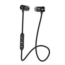 Black Sweatproof Bluetooth 4.1 Wireless Sport Earphone Earbud Headset Headphone