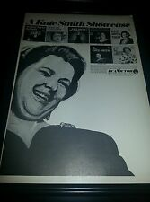 Kate Smith RCA Records Showcase Rare Promo Poster Ad Framed!