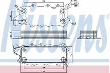 orginal NISSENS Ölkühler Motoröl 90784 für Chrysler 300 C 300 C Touring Jeep Com
