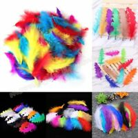 Lot Fluffy Marabou Bird Feathers DIY Craft Making Embellishments Headdress Decor