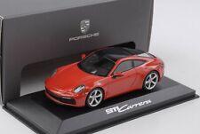 Porsche 911 992 Carrera 2019 Indischrot 1:43 Minichamps WAP Dealer
