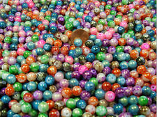 1/2 POUND LOT ASSORTED COLOR GOLD SPRINKLE RAINBOW GLASS BEADS (011120171)