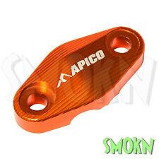 Apico Fork Guard Brake Hose Clamp KTM SX-F XC-F 250 350 450 15-17 Alloy Orange