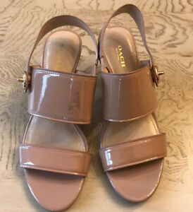 Womens COACH MARLA Slingback NUDE Heel Sandals 6.5 (Box 4)