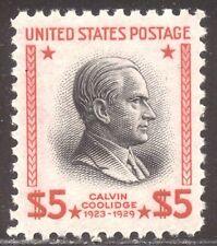U.S. #834 Mint Xf Nh - 1938 $5.00 Coolidge ($75)