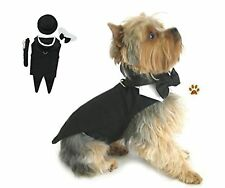 """Formal Tuxedo Suit Harness and Pin Set- for Dog SIze (S- Chest 13-16"""", Neck 1..."""
