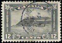 1930 Used Canada VF Scott #174 12c King George V Arch/Leaf Stamp