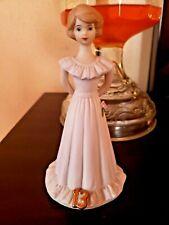 New listing Vintage Enesco Growing Up Birthday Girl Figurine 13 Thirteen Years Brunette Hair