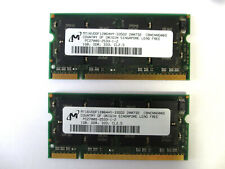 (2) Micron 1GB PC2700 DDR-333 SODIMM for Laptop/Notebook (MT16VDDF12864HY-335D2)