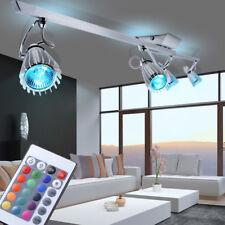 Design RGB LED Deckenlampe Farbwechsler ALU Flurstrahler 4-flammig DIMMBAR EEK A