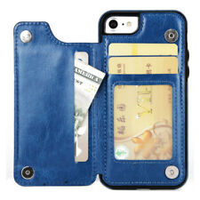 Leather Flip Wallet Card Holder Case Cover For iPhone 6 7 8 X Samsung S8+ S9+ S7