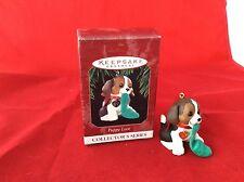 Hallmark Beagle Dog Puppy Love Keepsake Christmas Ornament Collector's Series