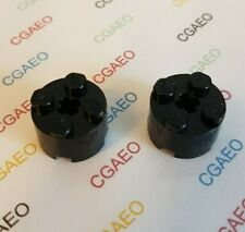2 X Lego 3941 Brick, Round 2 x 2 - Black